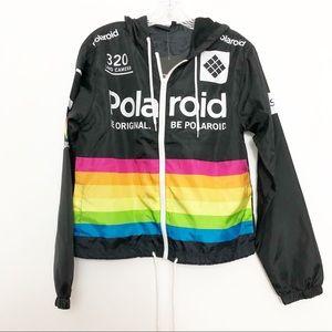 Polaroid Rainbow Windbreaker Jacket Size Small